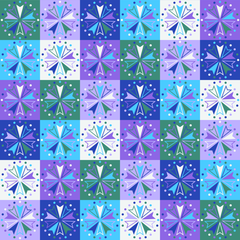 Circus Squares - Lakeside Aurora fabric by siya on Spoonflower - custom fabric