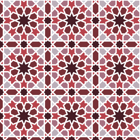 arabic_tiles_A4 fabric by analinea on Spoonflower - custom fabric