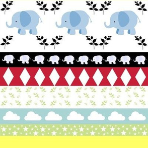 Blue Elephant YaYa diamond quilt