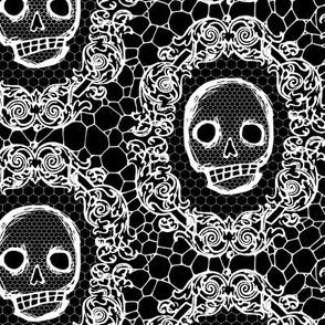 Skull Lace - black