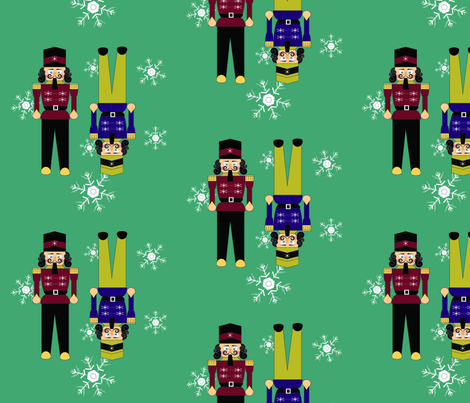 nutcracker fabric by brigete on Spoonflower - custom fabric