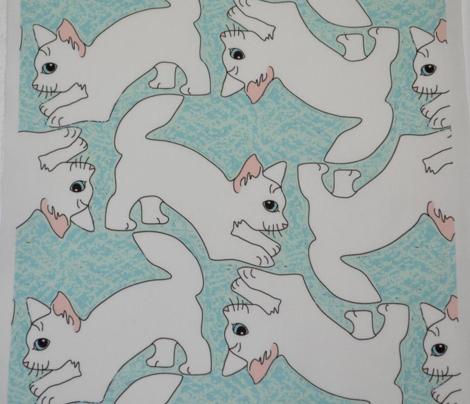 Pouncing White Kitties 2