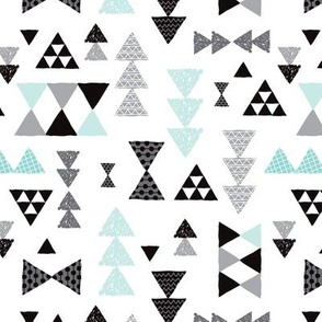 Geometric Pastel Blue Bow Tie And Triangle Tribal Illustration Pattern For Boys Or Home Decor Wallpaper