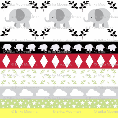 Gray Elephant YaYa diamond quilt
