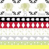 Gray Elephant YaYa diamond quilt-personalized
