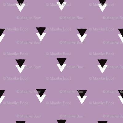 geometric tribal aztec triangle violet modern patterns