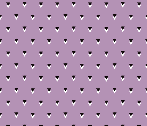 geometric tribal aztec triangle violet modern patterns fabric by littlesmilemakers on Spoonflower - custom fabric