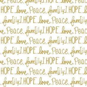 hope. love. peace. fam[ily].