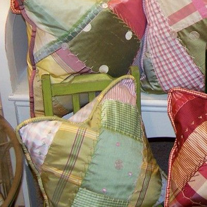 Crazy quilt pillows