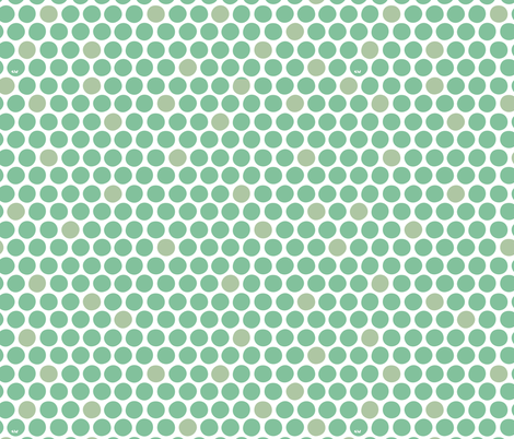 Nordic Dots - Emerald fabric by studio_amelie on Spoonflower - custom fabric