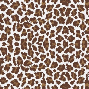 Sweet Leopard Sugar Sack Dk Brown/Brown/White