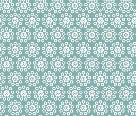 Floral Rings (Teal) fabric by studio_amelie on Spoonflower - custom fabric