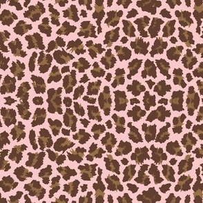 Sweet Leopard Sugar Sack Brown/Shell pink