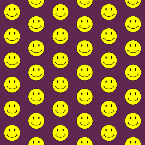 basic-smiley-dkburgandy-small fabric by gimpworks on Spoonflower - custom fabric