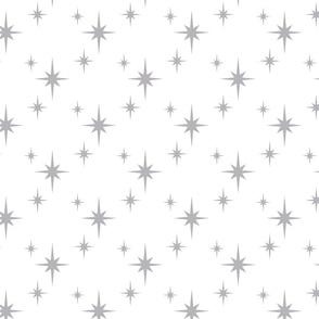 Mid Century Modern Starbursts on white