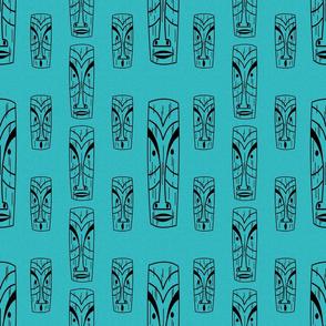 Mid Century Modern Tikis on Turquoise
