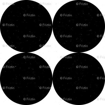 Huge Polka Dots Black by Friztin