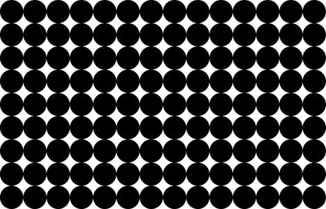 Huge Polka Dots Black by Friztin fabric by friztin on Spoonflower - custom fabric