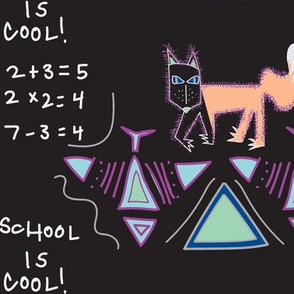 Tribal Foxes Blackboard