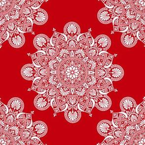 fortune mandala red #c2010e