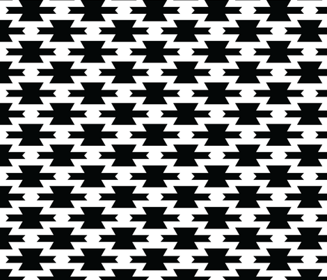 Black and White Geometric Pattern fabric by sierra_gallagher on Spoonflower - custom fabric