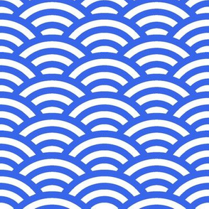 blue circle waves