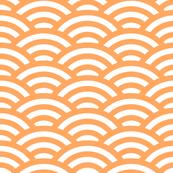 goldfish scales - white and faded orange