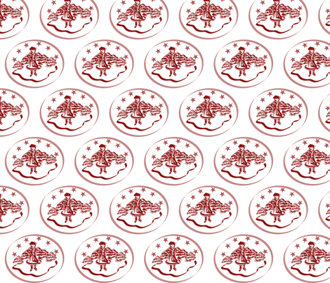 Winter-time-toile-de-jouy fabric by tink-a-bel on Spoonflower - custom fabric