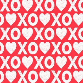 XO♥ distressed // red