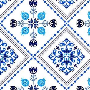 delft tile blue