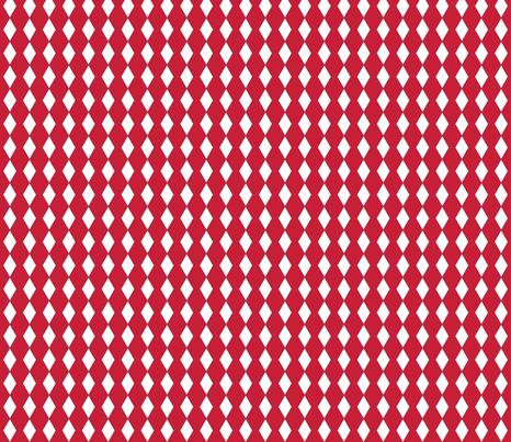perfect diamond - red/white fabric by drapestudio on Spoonflower - custom fabric