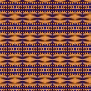Woven Blanket Gold Blue