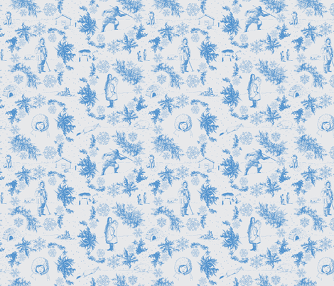 Inuit winter toile  fabric by sanneteloo on Spoonflower - custom fabric