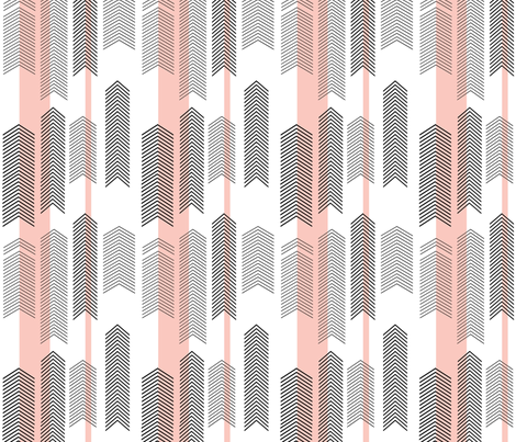 SMALLSCALE chevron stripe in pink fabric by cristinapires on Spoonflower - custom fabric