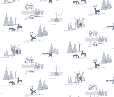 Yeti Toile fabric by chris_jorge on Spoonflower - custom fabric