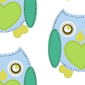 Lovely Owl - Blue
