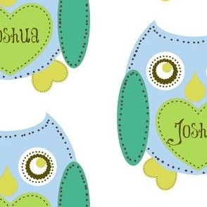 Lovely Owl - Blue-personalized