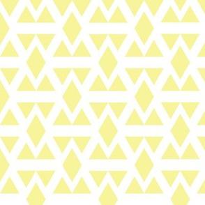 Lemon Geometric Triangle Diamonds