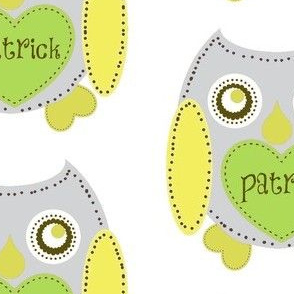 Lovely Owl - Gray personalized