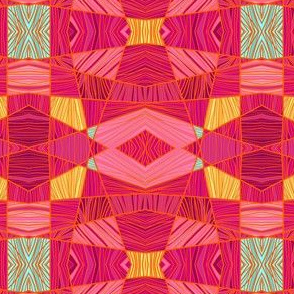 Happy Pink and Orange Pattern