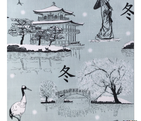 Japanese Toile (Blue)