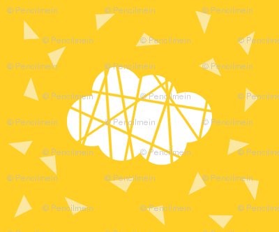 white clouds on yellow