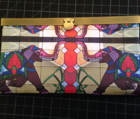 Stain Glass Purple Elephant