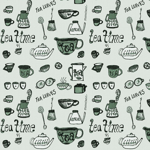 It's Tea Time little tea pots pattern