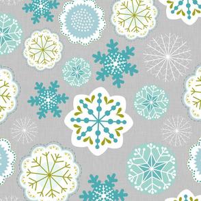 Snowflake Flowers in Linen