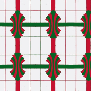 red and green bows