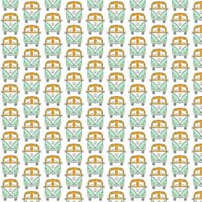 camper turquoise-orange mini-mini