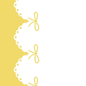Yellow Bow Border