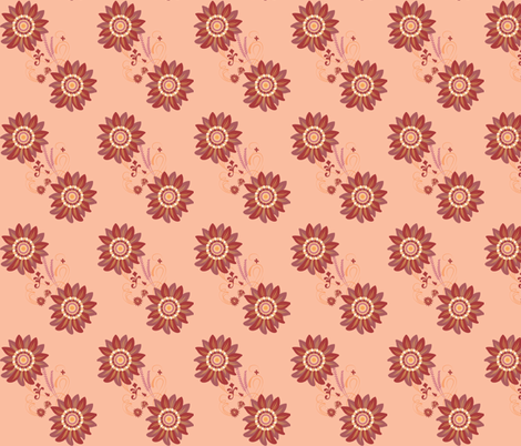 Whispering Flower Flourish fabric by terriaw on Spoonflower - custom fabric
