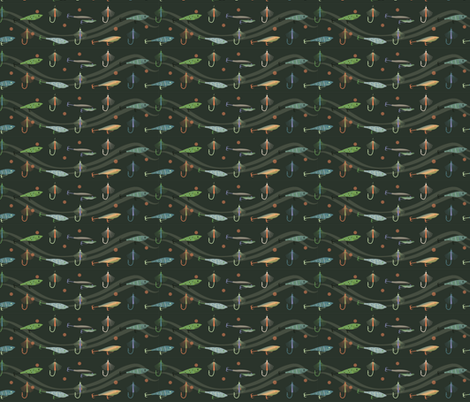 Lures riding waves fabric by terriaw on Spoonflower - custom fabric